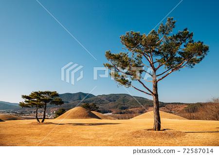 Jomunguk Historical Site, Royal Tomb of King Gyeongdeok, ancient ruins in Uiseong, Korea 72587014