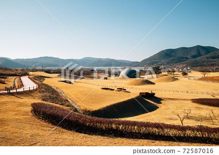 Jomunguk Historical Site, Royal Tomb of King Gyeongdeok, ancient ruins in Uiseong, Korea 72587016