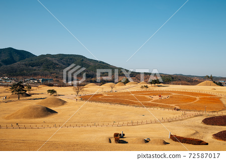 Jomunguk Historical Site, Royal Tomb of King Gyeongdeok, ancient ruins in Uiseong, Korea 72587017