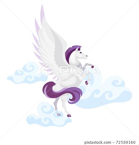 Pegasus flat vector illustration 72589160