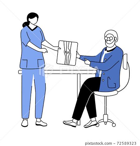 Orthopedics and traumatology flat vector illustration 72589323