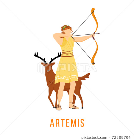 Artemis flat vector illustration 72589704