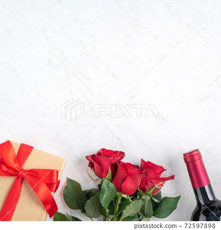 情人節 大餐 紅酒 玫瑰 禮物盒 Valentine Day Wine Gift バレンタイン 72597898