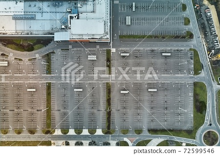 Empty Carpark Aerial 72599546