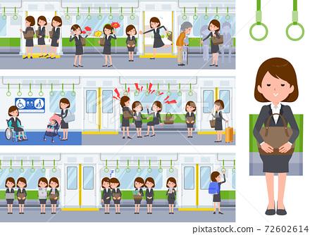 火車 電氣列車 事業女性 72602614