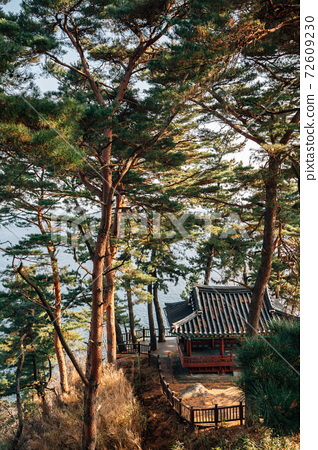 Jukdojeong Korean traditional pavilion with green forest in Yangyang, Korea 72609230