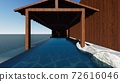 Hot spring open-air bath, sea, no roof, no people Illustration 4 72616046