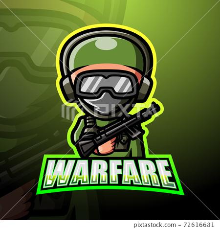 Warfare mascot esport logo design 72616681