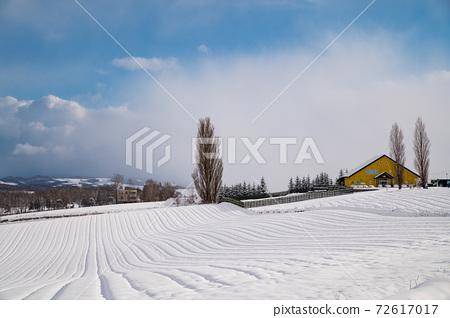 12 월 비 에이 겨울의 맑은 하늘 켄과 메리의 나무가있는 풍경 72617017