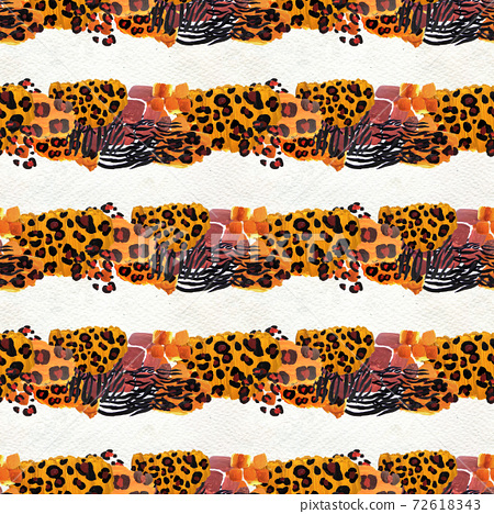 Animal mix print seamless pattern. Abstract background 72618343