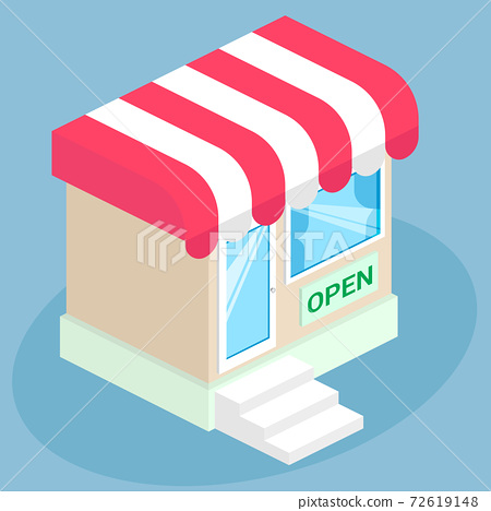 small shop icon logo illustration 72619148