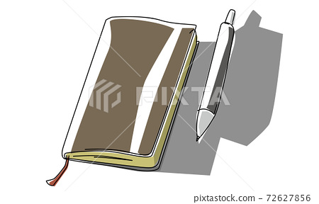 Vector illustration of notebook and pen 72627856