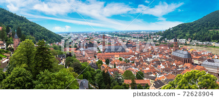 Panoramic aerial view of Heidelberg 72628904