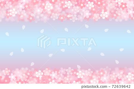 Cherry blossom background illustration petal cherry spring illustration material 72639642