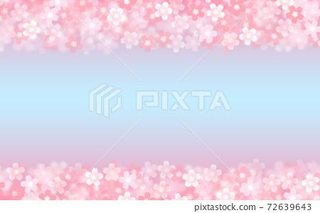 Cherry blossom background illustration petal cherry spring illustration material 72639643