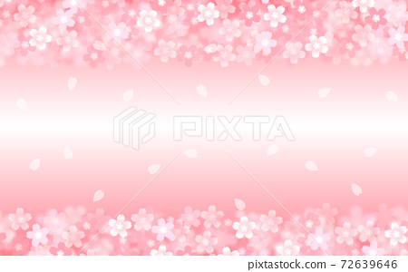 Cherry blossom background illustration petal cherry spring illustration material 72639646