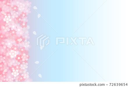 Cherry blossom background illustration petal cherry spring illustration material 72639654