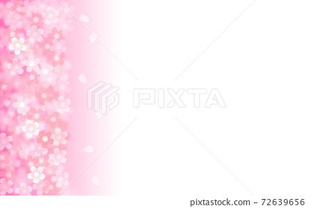 벚꽃 배경 일러스트 꽃잎 사쿠라 봄 일러스트 소재 72639656