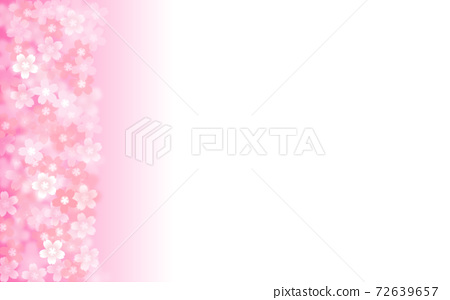 Cherry blossom background illustration petal cherry spring illustration material 72639657