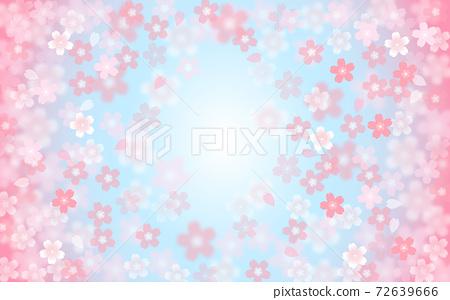 Cherry blossom background illustration petal cherry spring illustration material 72639666