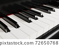 Piano keyboard close up view 3D illustration 72650768