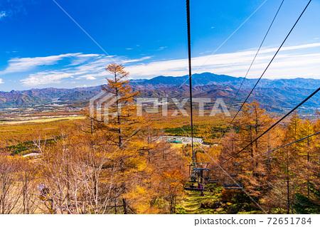 (山梨縣)從清裡露台纜車看到的山脈 72651784