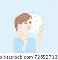 皮膚護理美麗的皮膚女性緊緻1 72652713