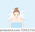 皮膚護理美麗的女性水分2 72652716