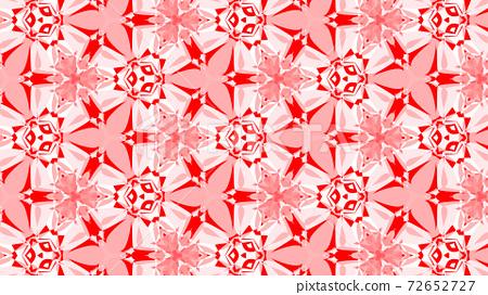 紅白萬花筒,美麗的幾何圖案[其他版本] 72652727