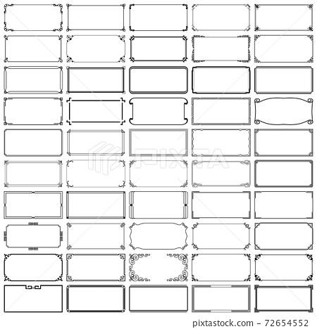 Fifty rectangle frames (set 5) 72654552