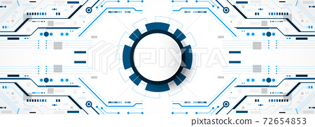 Abstract futuristic technology background with circuit pattern ,geometry element. Hi-tech style background vector illustration. 72654853