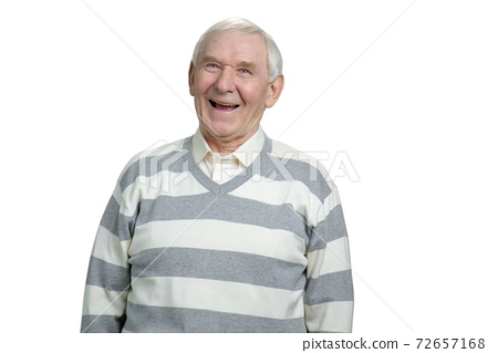 Very old grandfather laughing out loud. 72657168