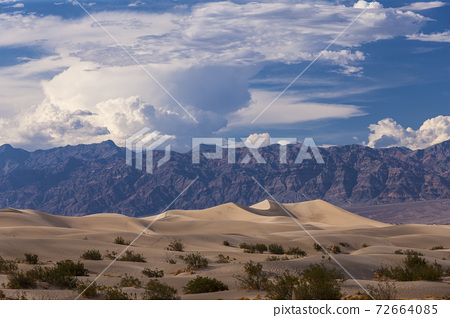 Death Valley Scenic Desert and Mountain Landscape 72664085