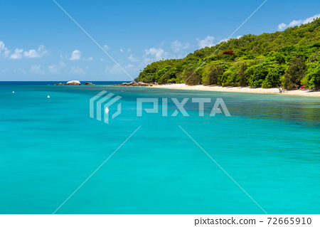 Fitzroy tropical Island beach in a sunny day 72665910