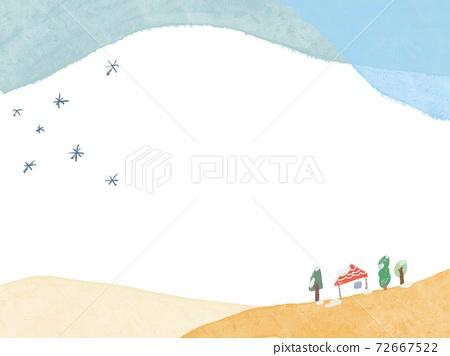눈 오는 날의 배경 72667522