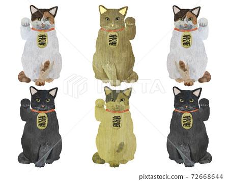 什錦招手貓 72668644