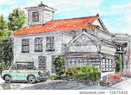 Old buildings 72675910