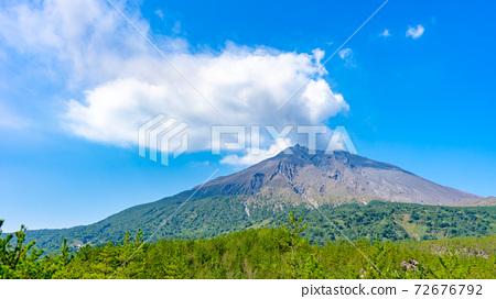 Sakurajima seen from Arimura lava observatory 72676792