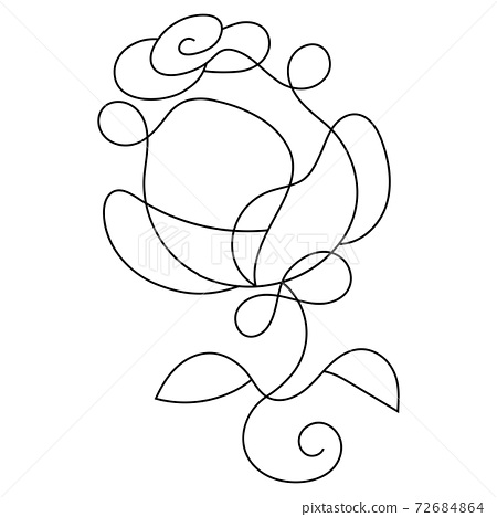 rose Stock Illustration On A Background. For Design, Decoration, Logo. 72684864