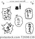 만화의 대사가 들어간 풍선 문자 세트 72696136