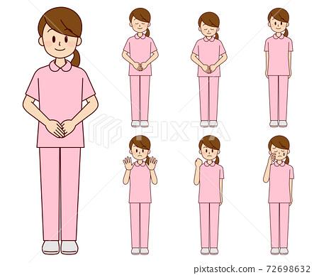 女護士在各種姿勢 72698632