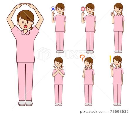 女護士在各種姿勢 72698633