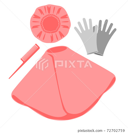 Set of cap, cape, gloves and comb 72702759