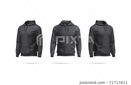 Blank white hoodie with hood mockup, front and side view 72713621
