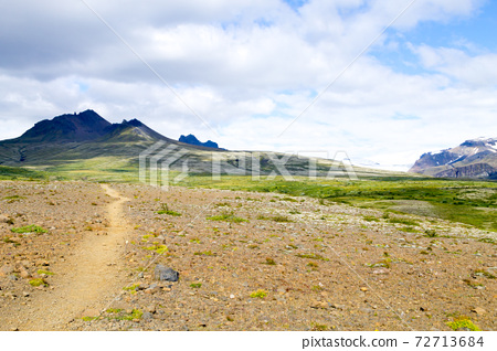 Skaftafell national park landscape, south Iceland landmark 72713684
