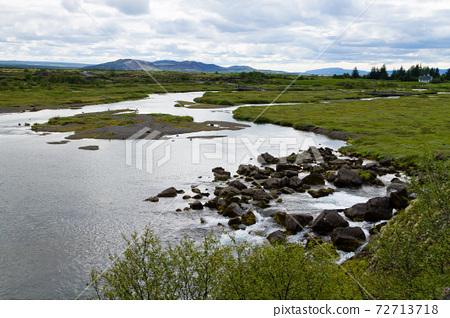 Thingvellir site, famous Icelandic landmark. Golden circle 72713718