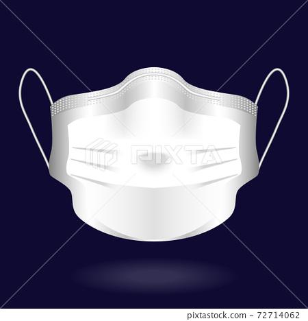 Medical mask Air pollution, environment contamination, disease protection, vector illustration 72714062