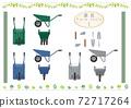 農用工具的插圖集我 72717264