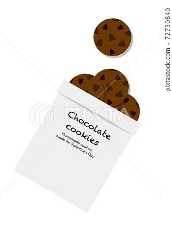 Valentine chocolate cookies 72730840