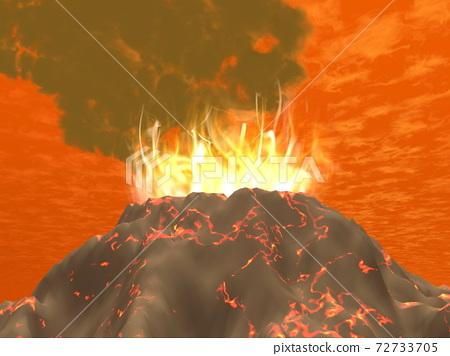 Eruption - 3D render 72733705